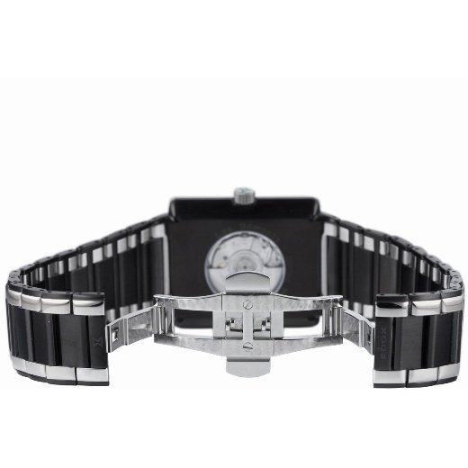 Edox Mens 82005 357N NIN Les Bmonts Rectangular Automatic Watch - Back View